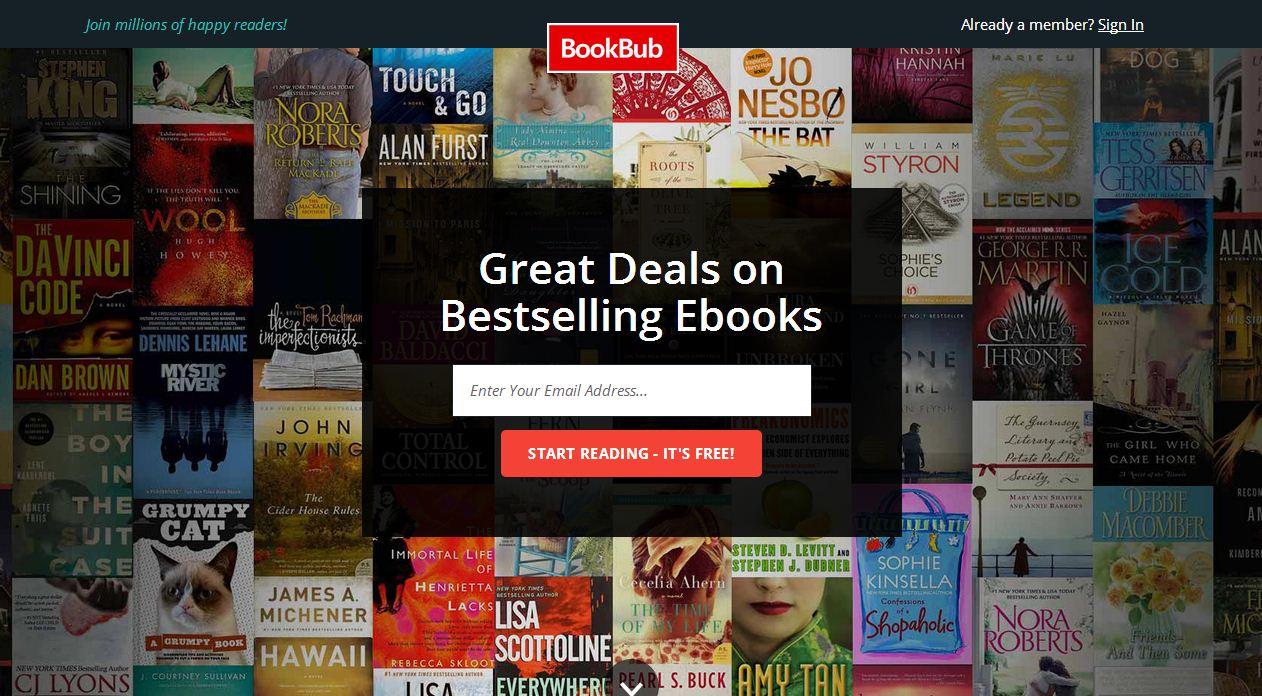 BookBup free ebooks