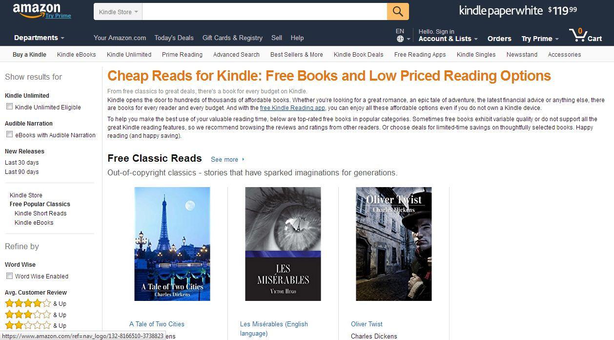 amazone free kindle ebooks