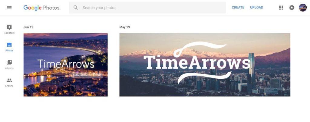 google photos web interface